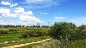 Overview of the Delta del Llobregat Stock Photography