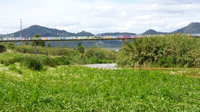 Overview of the Delta del Llobregat Royalty Free Stock Image
