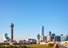 Overview of downtown Dallas Royalty Free Stock Photos