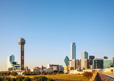 Overview of downtown Dallas Royalty Free Stock Photography