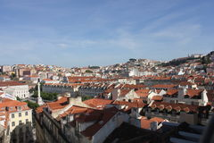 Overview of downtown Lisbon Royalty Free Stock Images
