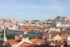 Overview of downtown Lisbon Royalty Free Stock Image