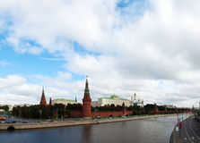 Overview of downtown Moscow Royalty Free Stock Photography