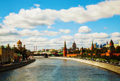 Overview of downtown Moscow Royalty Free Stock Image