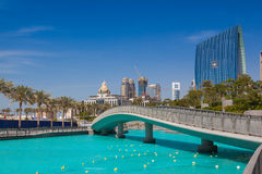 Overview of the Dubai Mall in Dubai. Royalty Free Stock Image