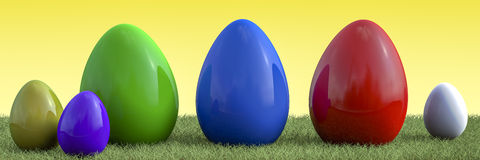 Overview of easter eggs Royalty Free Stock Image