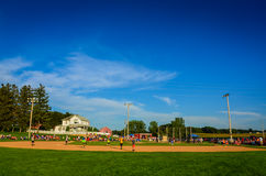 Overview of Field of Dreams Movie Site - Dyersville, Iowa Stock Images
