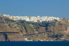 Overview on Fira in Santorini. Greece royalty free stock photography