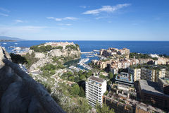 Overview of Fontvieille and the Monaco City, Monaco Stock Image