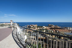 Overview of Fontvieille, Monaco Royalty Free Stock Photo