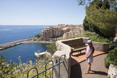 Overview of Fontvieille, Monaco Royalty Free Stock Images