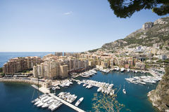Overview of Fontvieille, Monaco Stock Image
