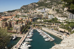 Overview of Fontvieille, Monaco Stock Photos