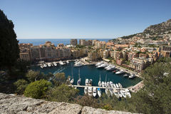 Overview of Fontvieille, Monaco Stock Photo