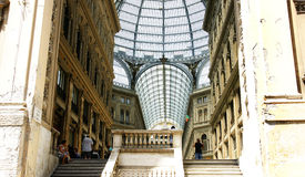 Overview of the Galleries Umberto I, Naples Royalty Free Stock Images