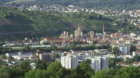 Overview of gate and villa. A overview of a gate and a villa in a german city stock footage