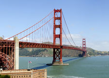 Overview of the Golden Gate Royalty Free Stock Photo