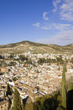 Overview of Granada Royalty Free Stock Photography