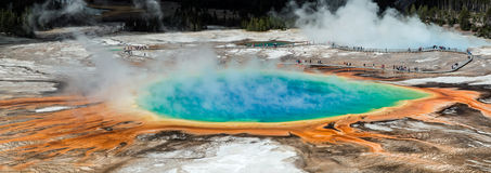 Overview Grand Prismatic Spring, Yellowstone NP, USA Royalty Free Stock Images