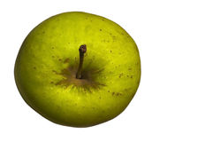 CUT OUT GREEN APPLE  Stock Images