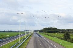 Overview of A4 highway stock photography