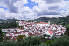 Overview of Historic Castelo de Vide Royalty Free Stock Images