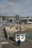 Overview of the historic Mayflower Steps in Plymouth UK Royalty Free Stock Photos
