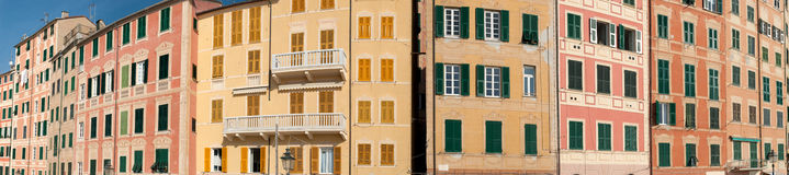 Overview of the houses of Camogli Stock Photography