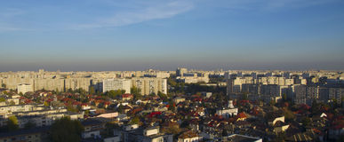 Overview with housing blocks and residences Stock Images