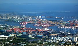 Overview of Kaohsiung Industrial Port Stock Photo