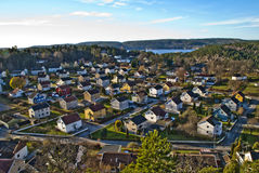 Overview of knardal in halden Royalty Free Stock Photo