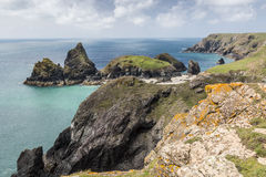 Overview of Kynance Cove, Cornwall, England Royalty Free Stock Images