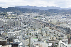 Overview on Kyoto city Royalty Free Stock Image