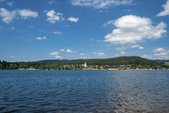 Overview of the lake Titisee Royalty Free Stock Images