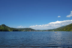 Overview of the lake Titisee Stock Photo