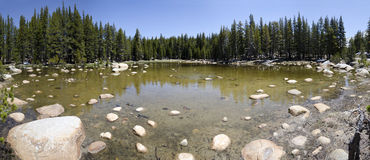 Overview of a lake in Yosemite Stock Image