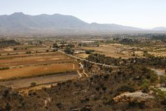 Overview of a landscape near Oaxaca, Mexico Royalty Free Stock Photos