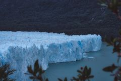 Overview of a large glacier in Argentina stock images
