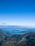 Overview on Lefkas island. In Greece Stock Images
