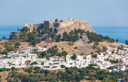 Overview of Lindos on Rhodes island, Greece. Overview of Lindos on Rhodes island royalty free stock image