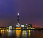 Overview of London with the Shard London Bridge Royalty Free Stock Photos