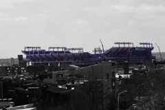 Baltimore ravens Stadium. Overview look of the Baltimore ravens stadium Stock Photos