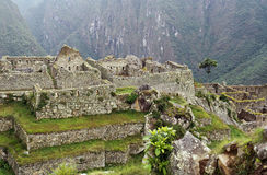 Overview of Machu Picchu in Peru Royalty Free Stock Photo