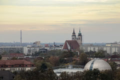 Overview of Magdeburg city, Saxony-Anhalt, Germany, in November.  Stock Image