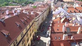 Mala Strana district in Prague stock footage
