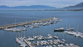 Overview of the marina of Agropoli village Stock Photo