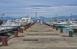 Overview of the marina of Agropoli village Royalty Free Stock Photo