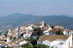 Overview of Marvao village in Portugal Royalty Free Stock Image