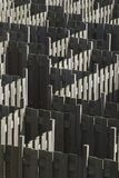 Maze made out of wooden fences Royalty Free Stock Photo