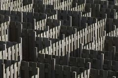 Maze made out of wooden fences Stock Photos
